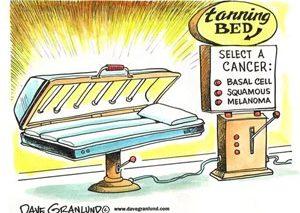 خطر ابتلا به سرطان پوست از تختهای برنزه