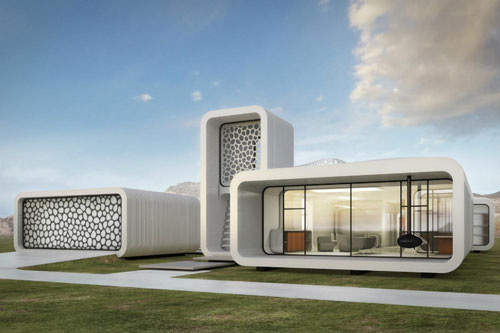 پرینت سهبعدی یک ساختمان اداری با تمام وسایل داخلش در دبی