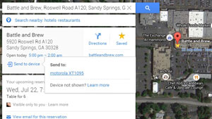 امکان ارسال مسیرهای حرکت از نسخه دسکتاپ گوگل مپز به اندروید و آیاو اس