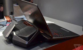 محصولات دیوانهوار: لپ تاپ ایسوس ویژه گیم ایسوس با سیستم خنک کننده آبی
