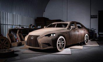 لکسوس یک اتومبیل مقوایی ساخته است