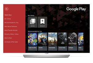 ادغام فیلمها و برنامههای تلویزیونی گوگلپلی با تلویزیونهای هوشمند الجی