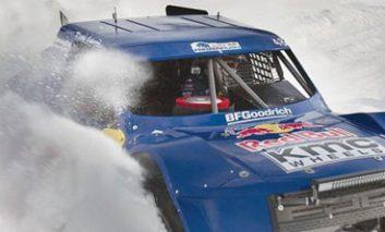نمایش برفی وانتهای مختص مسابقه