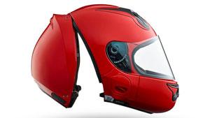 یک کلاه ایمنی متفاوت مختص موتورسیکلتسواران