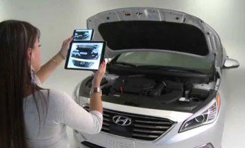 اپلیکیشن واقعیت افزوده هیوندای برای اتومبیلها