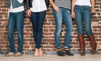 شلوار جین تنگ نپوشید