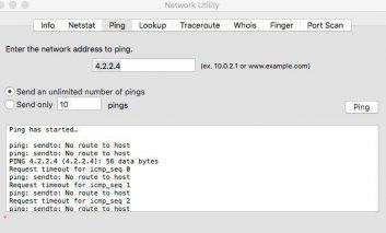 روش پینگ (ping) گرفتن در سیستم عامل مکینتاش