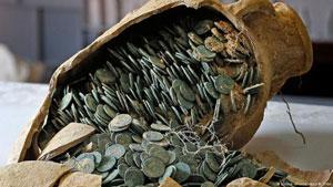 کشف ۶۰۰ کیلوگرم سکه نقره و برنز رومی در اسپانیا