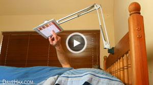 ساختن یک پایه نگهدارنده تبلت برای تختخواب
