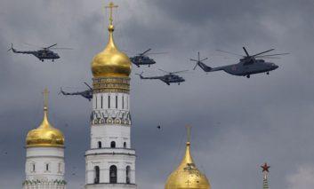 تمرین رژه نظامی برای روز پیروزی در مسکو