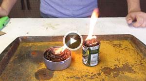 روش ساخت مشعل قابل حمل؛ اجاقی برای روز مبادا