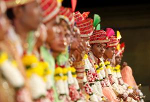 مراسم ازدواج گروهی در بمبئی
