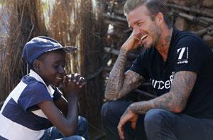 سفر دیوید بکهام به آفریقا برای حمایت از کودکان مبتلا به ایدز