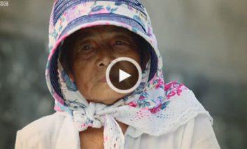 زن ۷۰ ساله شکارچی مارهای دریایی سمی