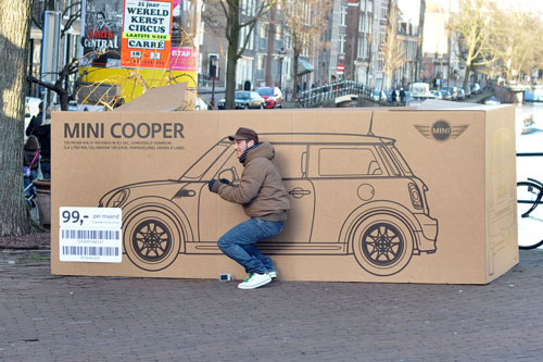 تبلیغات خلاقانه مینیکوپر در آمستردام + ویدیو