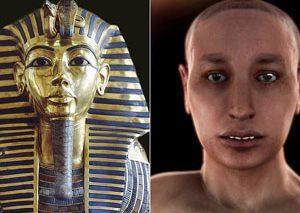 چهره واقعی زیر ماسک «فرعون توت عنخ آمون» کالبد شکافی شد، و اصلا زیبا نیست!