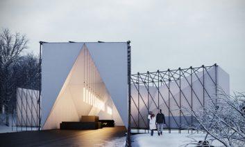 آخرین تحول در معماری: ساخت رستوران رو باز بر روی رودخانه یخزده
