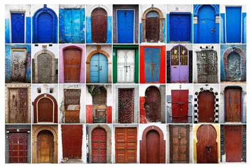 رنگهای زنده در شهر رَباط