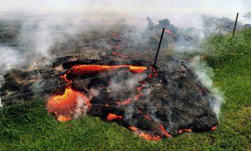 فوران گدازههای آتشفشان هاوایی