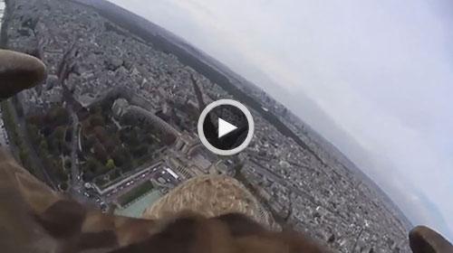 ضبط ویدئوی هیجانانگیز از فراز شهر پاریس توسط یک عقاب