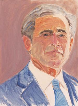 جورج بوش هنوز هم نقاش بدی است