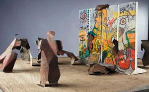 نصب دوباره دیوار برلین در اندونزی توسط یک هنرمند