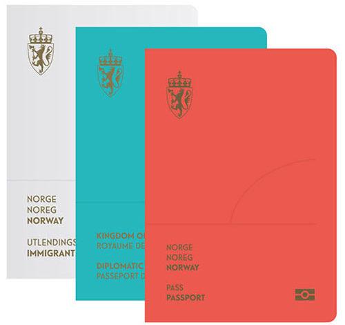 طرح جدید و زیبای پاسپورتهای نروژ