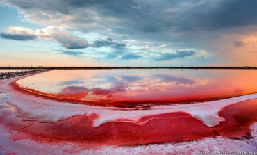 دریاچههای صورتی رنگ نمک در کریمه
