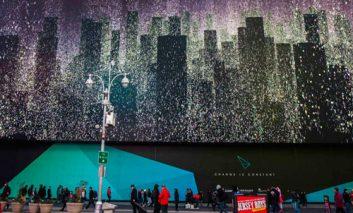 بزرگترین بیلبورد جهان در میدان تایمز نیویورک رونمایی شد + ویدیو