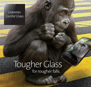 گوریلا گلاس ۴، محافظت قدرتمندانه هنگام سقوط روی سطوح سخت + ویدیو