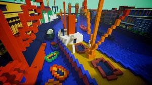 آثار هنری الهام بخش فضاهای جدید در بازی «Minecraft»