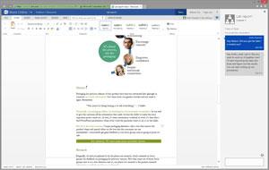 ارائه قابلیت چت برای اپلیکیشنهای تحت وب Word و PowerPoint