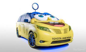 ساخت یک اتومبیل تویوتا شبیه باب اسفنجی!