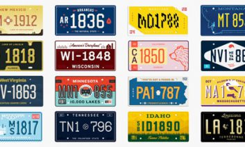 طراحی جدید پلاکهای ماشین ایالتهای مختلف آمریکا
