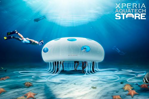 [اعلامیه سونی] Sony Mobile از طراحی فروشگاه Xperia Aquatech رونمایی میکند