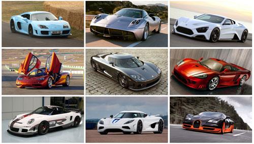 سریعترین اتومبیلهای جهان