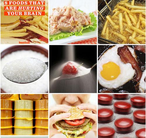 ۸ ماده غذایی که به مغز شما آسیب میرسانند!