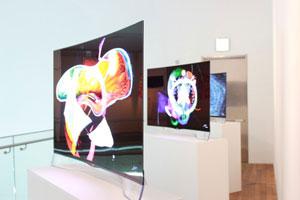 انعکاس نقشه مغز بشر در تلویزیون OLED الجی