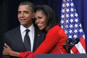 بعد از ظهر عاشقانه «باراک و میشل اوباما»