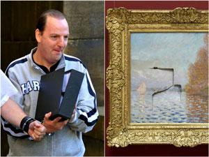 چه کسی نقاشی ۱۰ میلیون دلاری مونه را سوراخ کرد؟