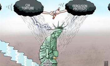 کنار رفتن نقاب حقوق بشر آمریکا