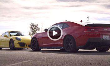 پورشه ۹۱۱ GT3 در مقابل Camaro Z/28 + ویدیو