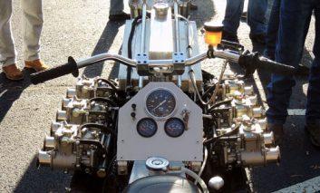 تبدیل موتور یک لامبورگینی به موتورسیکلتی عجیب! + ویدیو