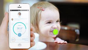 پستانک هوشمند برای رهگیری مکان نوزاد و اندازهگیری تب
