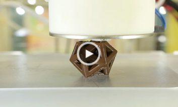 چاپ شکلاتهای سه بعدی خوشمزه با CocoJet + ویدیو