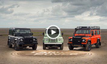نقاشی روی شن با اتومبیلهای Land Rover + ویدیو