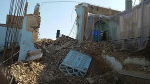 دیوار مقبره دانیال نبی(ع) فرو ریخت