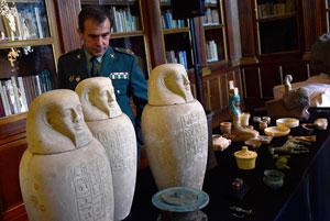 کشف بیش از ۲۲۰۰ اثر هنری باستانی قاچاق در اروپا