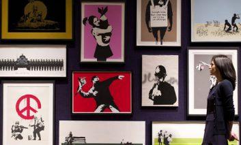 محبوبیت آثار بنکسی در حراجهای هنری
