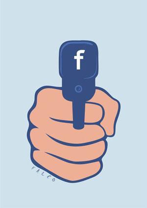 فیسبوک از پشت سر